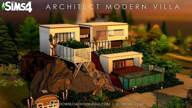 Architect Modern Villa at DH4S image 1380 670x377 Sims 4 Updates