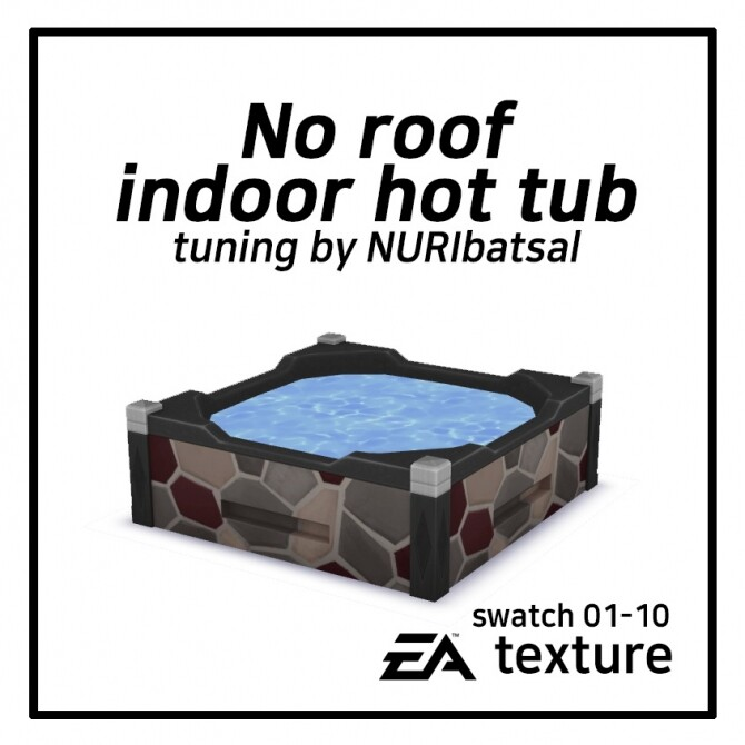 Sims 4 No roof indoor Hot tub by NURIbatsal at Mod The Sims