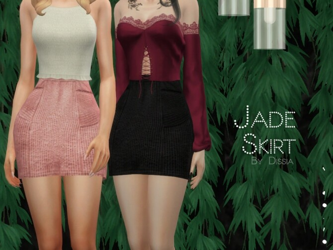 Sims 4 Jade Skirt by Dissia at TSR