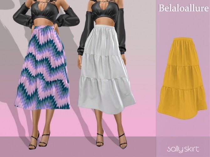 Sims 4 Belaloallure Sally skirt by belal1997 at TSR