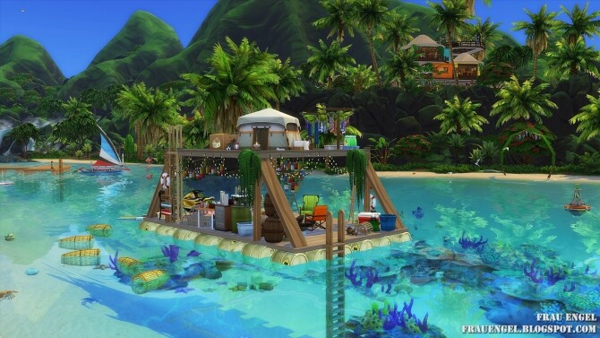 Sims 4 Travel by Raft Off The Grid at Frau Engel