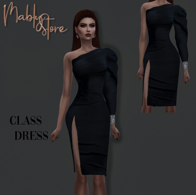 Sims 4 CLASS DRESS at Mably Store