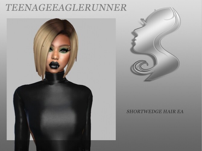 Sims 4 Short Wedge Hair EA at Teenageeaglerunner