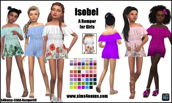 Isobel romper for girls by SamanthaGump