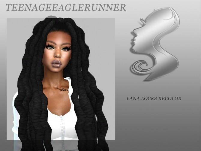 Sims 4 Lana Locks Recolor at Teenageeaglerunner