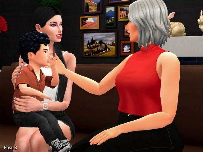 Sims 4 Grandma Pose pack by Beto ae0 at TSR