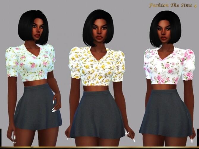 Sims 4 Top Eduarda by LYLLYAN at TSR