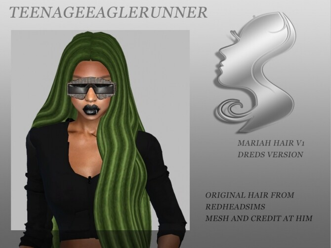 Sims 4 Mariah Hair V1 Dreads Version at Teenageeaglerunner