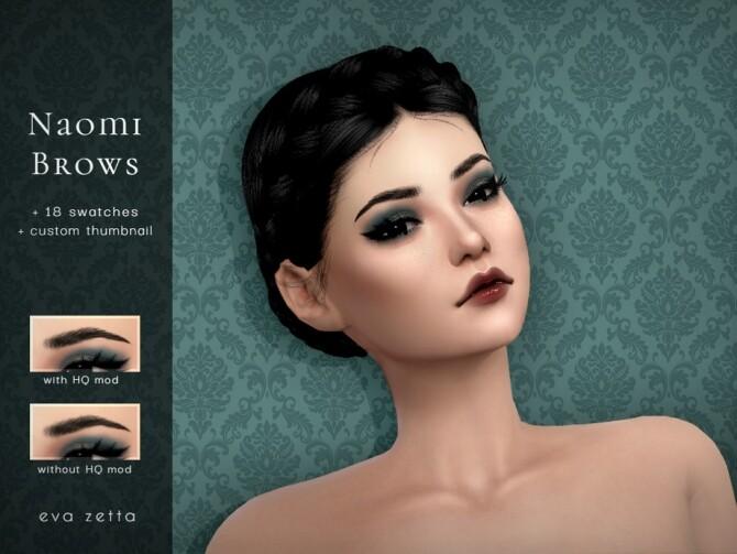 Sims 4 Naomi Eyebrows by Eva Zetta at TSR