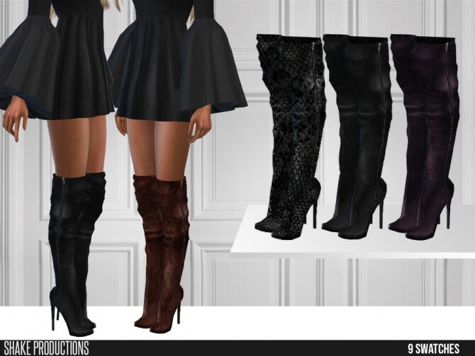 488 Leather High Heel Boots by ShakeProductions at TSR image 1454 670x503 Sims 4 Updates