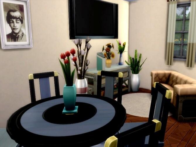 Sims 4 White suburbian home by GenkaiHaretsu at TSR