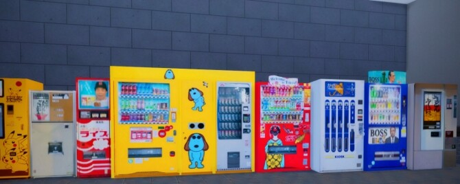 2 Non Functional Japanese Style Vending Machines at Mochachiii image 14714 670x268 Sims 4 Updates