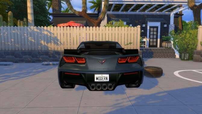 Sims 4 2015 Chevrolet Corvette Stingray C7 Z06 at Modern Crafter CC