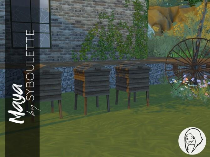 Sims 4 Maya Outdoor set by Syboubou at TSR