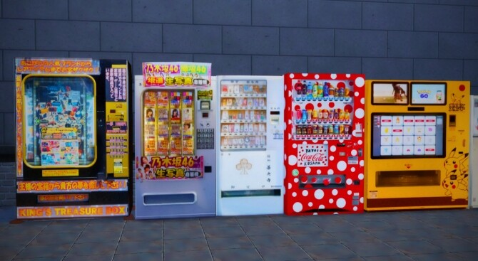 2 Non Functional Japanese Style Vending Machines at Mochachiii image 14914 670x367 Sims 4 Updates