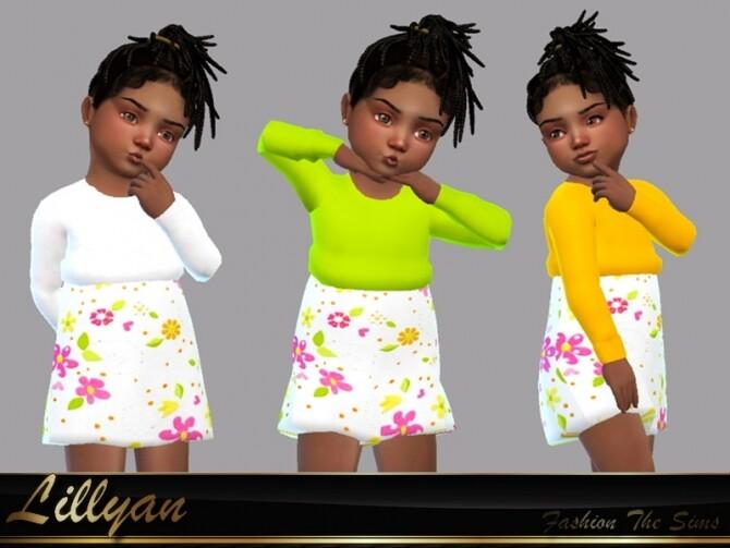 Sims 4 Dress baby Dulce by LYLLYAN at TSR