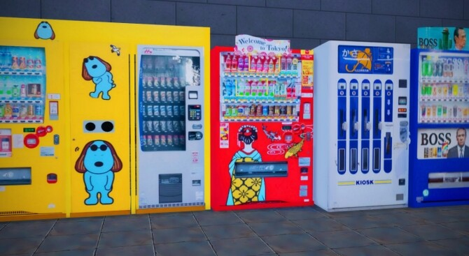 2 Non Functional Japanese Style Vending Machines at Mochachiii image 15012 670x367 Sims 4 Updates