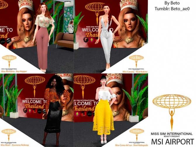 Sims 4 MSI AIRPORT Poses pack by Beto ae0 at TSR