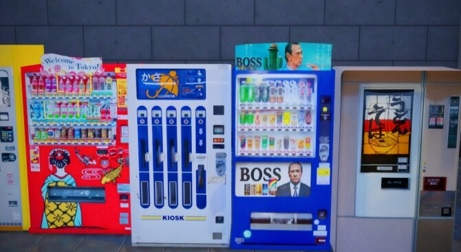 2 Non Functional Japanese Style Vending Machines at Mochachiii image 15119 670x367 Sims 4 Updates