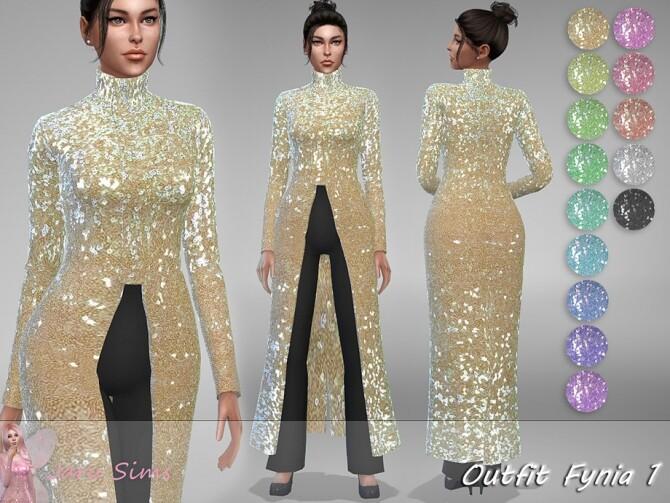 Sims 4 Outfit Fynia 1 by Jaru Sims at TSR