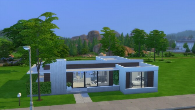 Sims 4 Simply Modern Home by RayanStar at MTS
