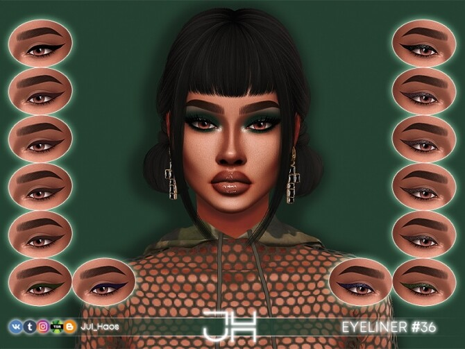 Sims 4 EYELINER #36 by Jul Haos at TSR