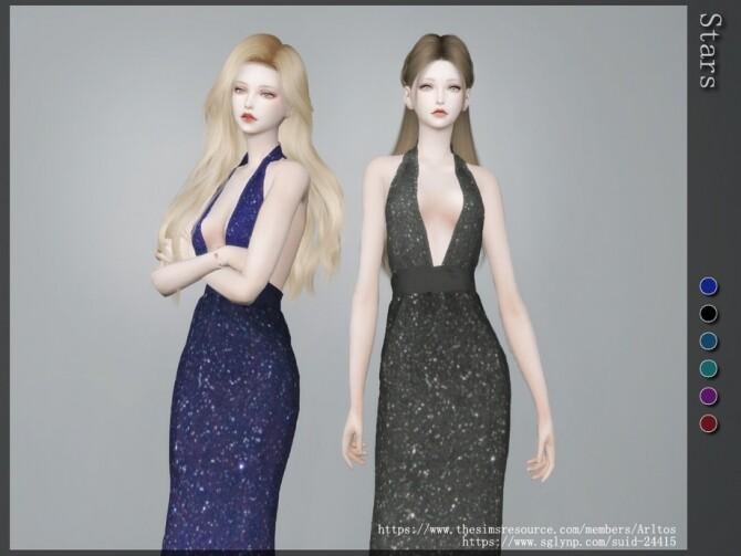 Sims 4 Stars dress by Arltos at TSR