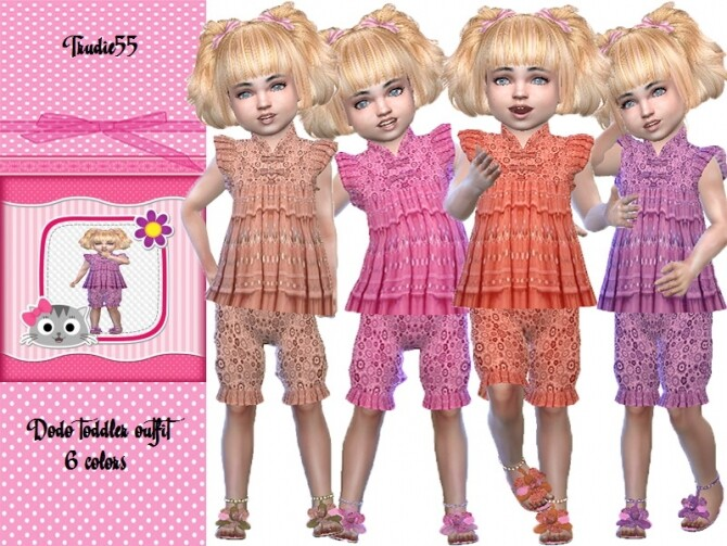 Sims 4 Dodi toddler outfit by TrudieOpp at TSR