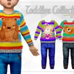 TODDLER Collection RPL55 Cats and Dogs by RobertaPLobo