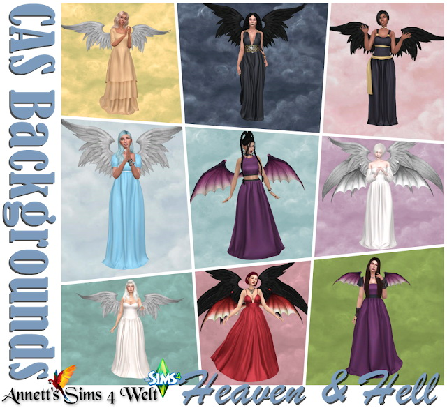 CAS Backgrounds Heaven & Hell at Annett's Sims 4 Welt image 1551 Sims 4 Updates