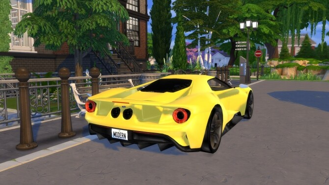 Sims 4 2016 Ford GT at Modern Crafter CC