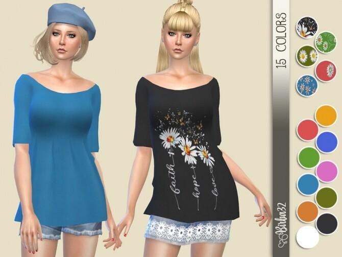 Sims 4 Daisy Long Sweater by Birba32 at TSR