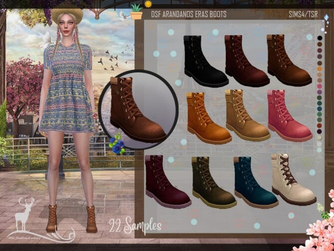 DSF ARANDANOS ERAS BOOTS by DanSimsFantasy at TSR image 1585 670x503 Sims 4 Updates