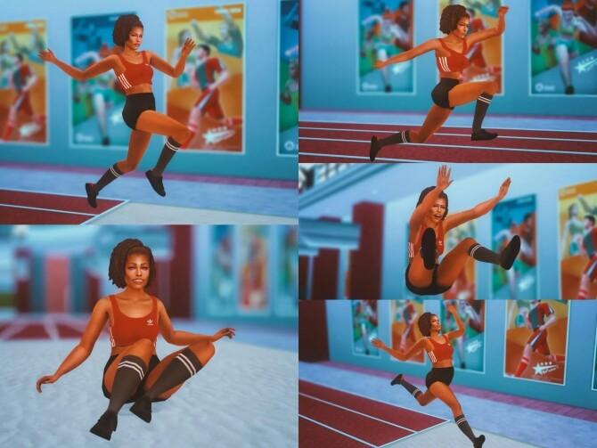 Long Jump Pose Pack at Katverse image 1586 670x503 Sims 4 Updates
