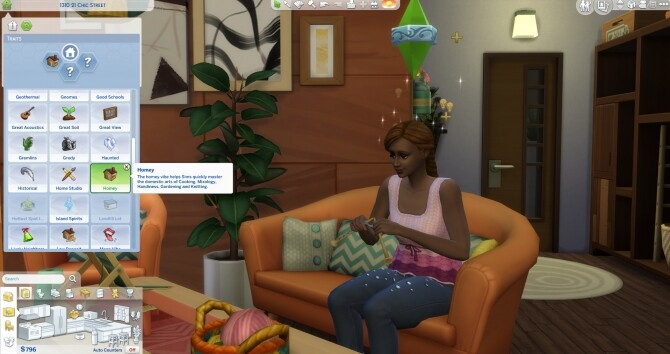 Homey Lot Trait includes Knitting skill by Mermaidlullaby