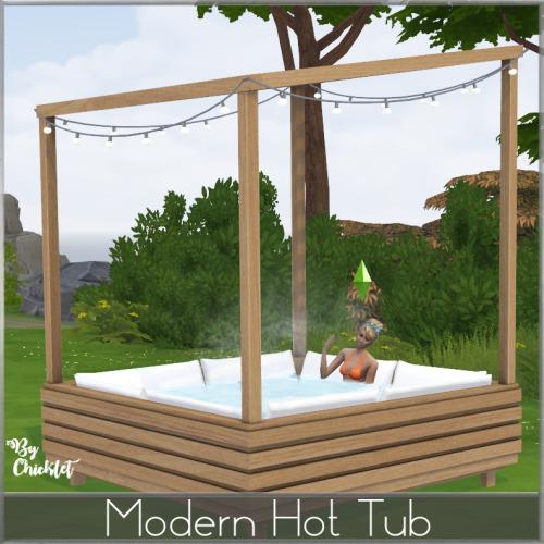 Sims 4 Modern Hot Tub at Simthing New