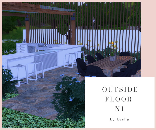 Outside Floor N1 3 Textures at Dinha Gamer image 1603 Sims 4 Updates