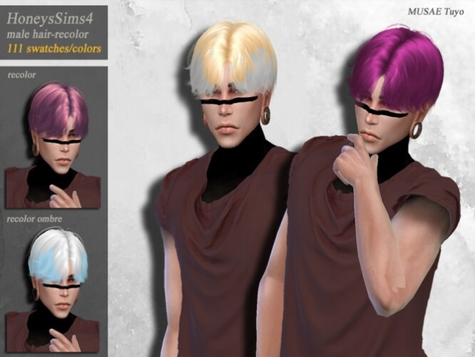 Tuyo male hair recolor by HoneysSims4