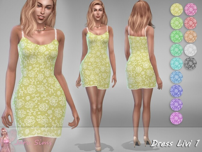 Dress Livi 1 by Jaru Sims at TSR image 1613 670x503 Sims 4 Updates