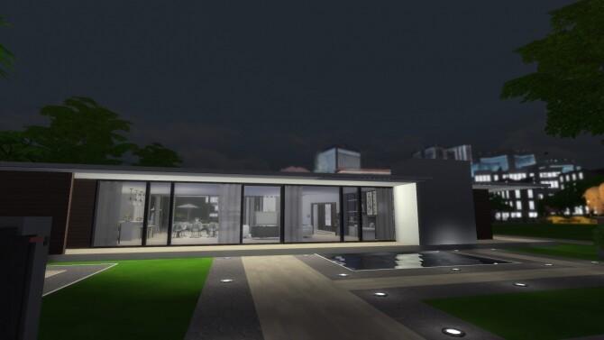 Sims 4 Modern Minimal House 3BR/2BA by RayanStar at Mod The Sims