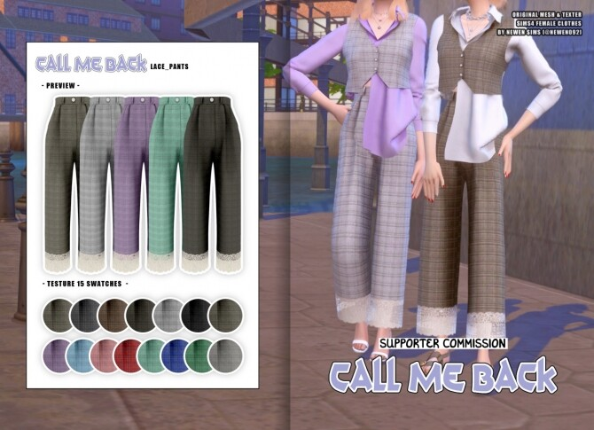 Sims 4 Call Me Back collection at NEWEN