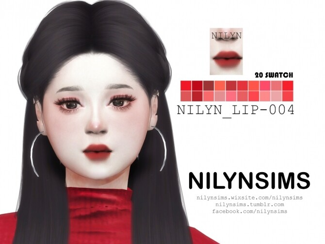 Sims 4 LIPSTICK 004 at Nilyn Sims 4