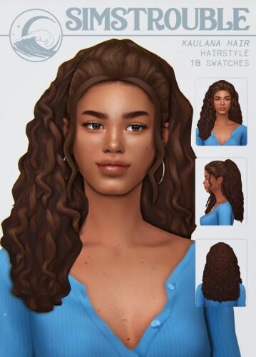 KAULANA hair by simstrouble