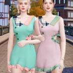 Frill Mini Dress