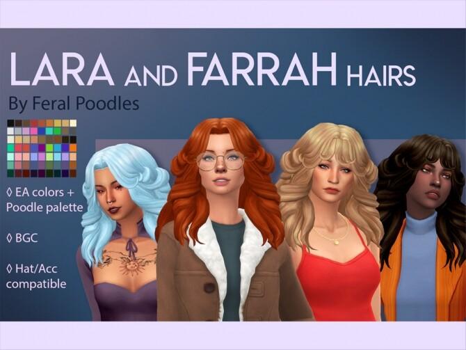 Sims 4 Farrah Hair by feralpoodles at TSR