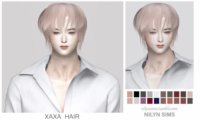 Sims 4 XAXA MALE HAIR at Nilyn Sims 4
