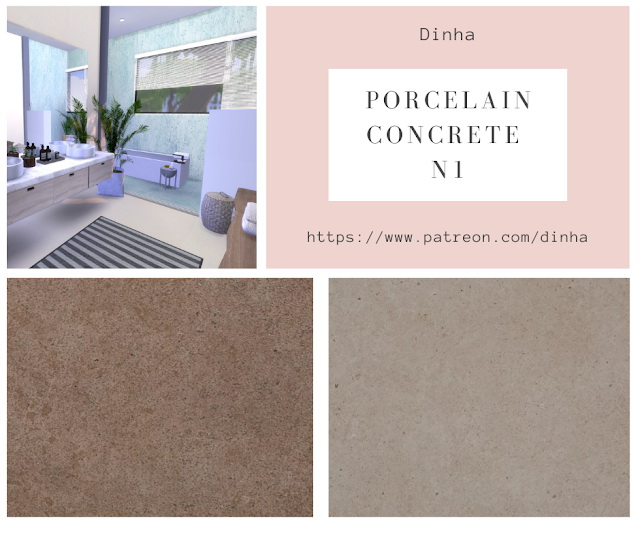 Porcelain Concrete N1 Wall & Floor 20 Textures at Dinha Gamer image 1674 Sims 4 Updates