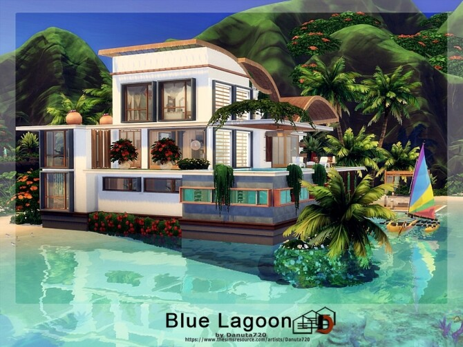 Sims 4 Blue Lagoon home by Danuta720 at TSR