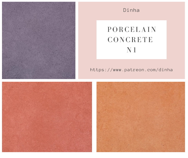 Porcelain Concrete N1 Wall & Floor 20 Textures at Dinha Gamer image 1684 Sims 4 Updates