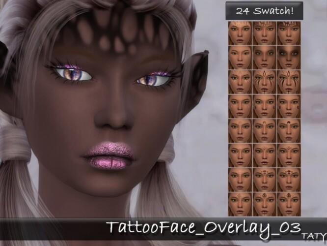 Tattoo Face Overlay 03 by tatygagg